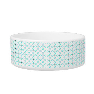 Turquoise Diamond Pet Bowl