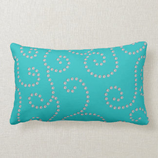 turquoise diamond swirls pillows