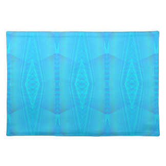 Turquoise Diamond Zig Zag Pattern Placemat Cloth Place Mat