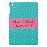 Turquoise diamonds wedding favors iPad mini covers