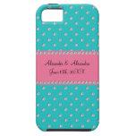 Turquoise diamonds wedding favors iPhone 5 covers