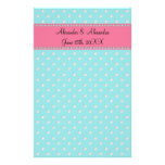 Turquoise diamonds wedding favors stationery paper