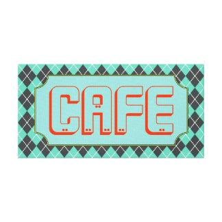 Turquoise Diner Cafe Retro Kitchen Art Sign