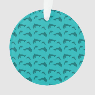 Turquoise dolphin pattern