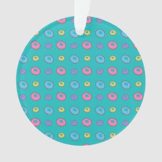 Turquoise donut pattern