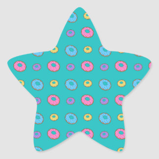 Turquoise donut pattern stickers