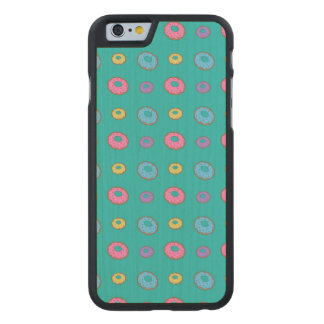 Turquoise donut pattern carved® maple iPhone 6 slim case
