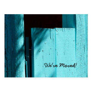 Turquoise Door, New Address Announcement Postcard