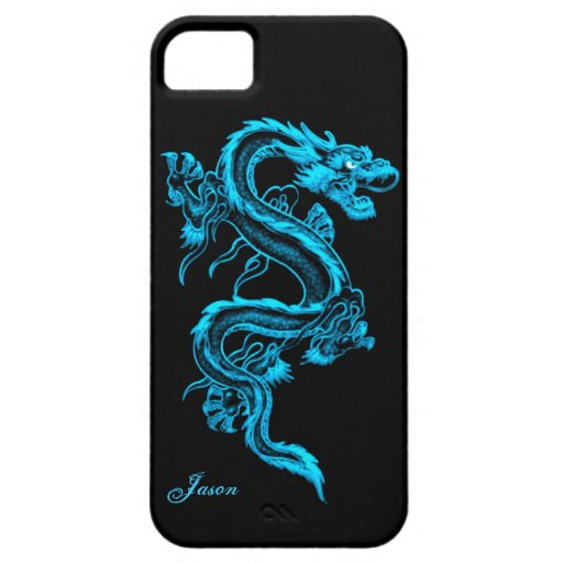 Turquoise Dragon Custom iPhone 5 Case