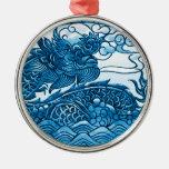 Turquoise Dragon Ornament