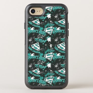 Turquoise - Earth's Hero OtterBox Symmetry iPhone 8/7 Case