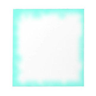 turquoise edge note pad