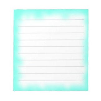 turquoise edge notepad