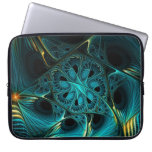 Turquoise Electric Laptop Computer Sleeve