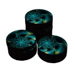 Turquoise Electric Poker Chip Set