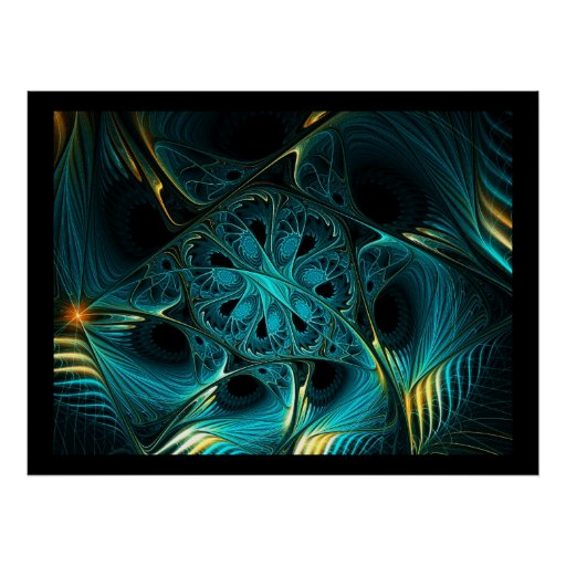 Turquoise Electric Poster
