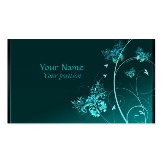 Turquoise Elegants Business Cards Pack Of Standard Business Cards
