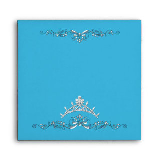 Turquoise Envelope Silver Look Image