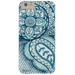Turquoise Ethnic Exotic Moroccan Indian Mandala Barely There iPhone 6 Plus Case