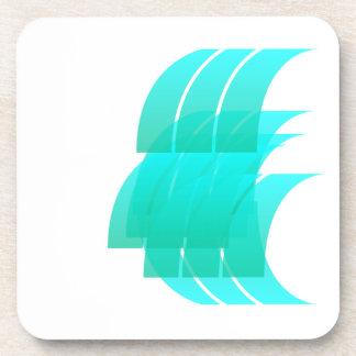 Turquoise Explosion Coaster. Beverage Coaster