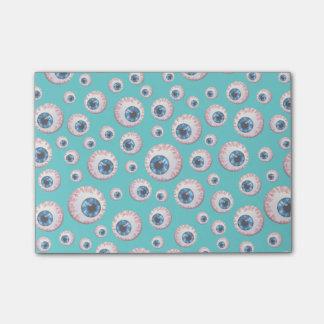 Turquoise eyeball pattern post-it® notes