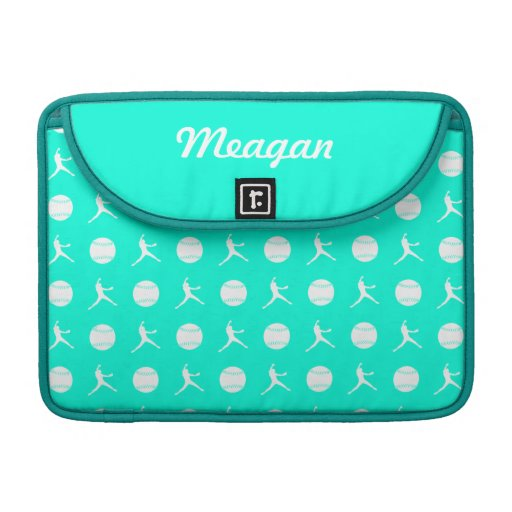 Turquoise Fastpitch MacBook Pro Sleeve