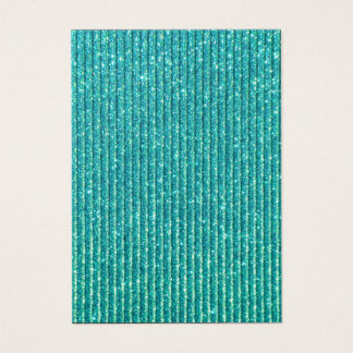 Turquoise Faux Sparkles Chic Elegance Business Card