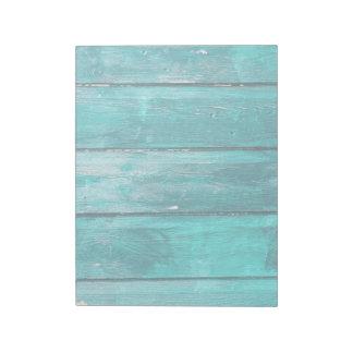Turquoise Fence Notepad