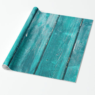 Turquoise Fence Wrapping Paper