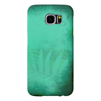 Turquoise Fern Distressed Teal Samsung Galaxy S6 Cases