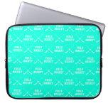Turquoise Field Hockey Laptop Sleeve