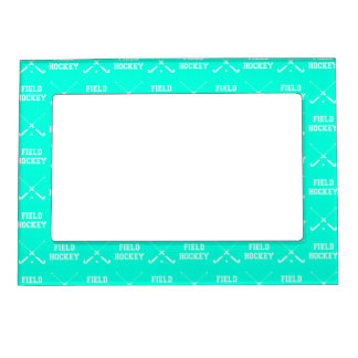 Turquoise Field Hockey Magnetic Picture Frame