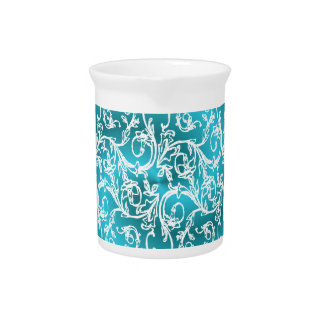 Turquoise Filigree Dream Drink Pitcher