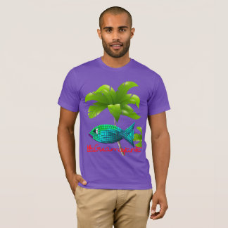 Turquoise fish island news by LaGuamayanie© T-Shirt