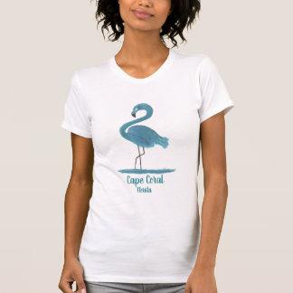 Turquoise Flamingo Fine Art Painting Cape Coral T-Shirt