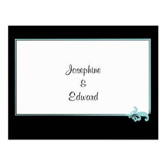 Turquoise Fleur de lis Postcard