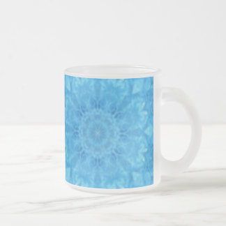 Turquoise Floral Frosted Mug