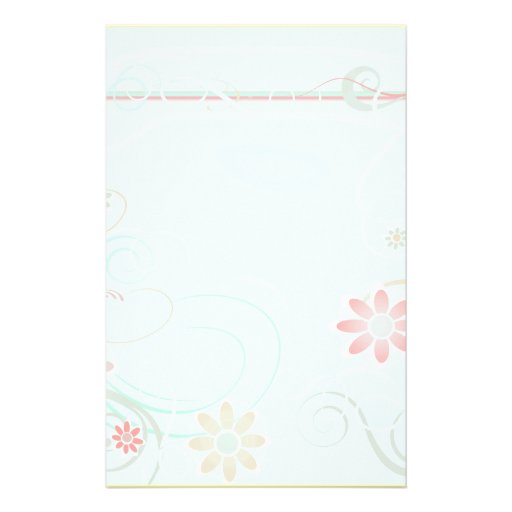 Turquoise Floral Stationery