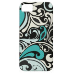 Turquoise Floral Swirls iPhone 5 Case