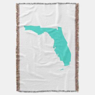 Turquoise Florida Shape Throw