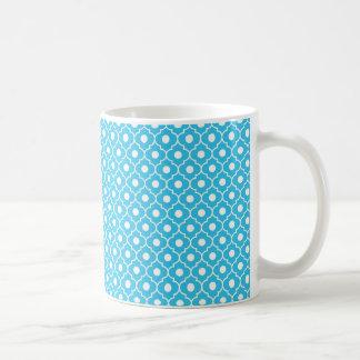 Turquoise Flower Argyle Pattern Coffee Mug