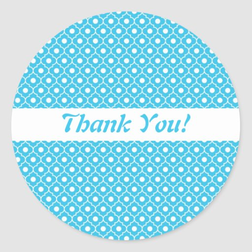 Turquoise Flower Argyle Pattern Envelope Sticker