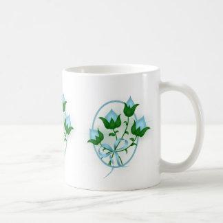 Turquoise Flower Buds Classic White Coffee Mug