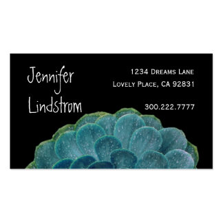 TURQUOISE Flower Business Card Template