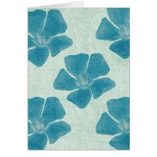Turquoise Flower Pattern Card
