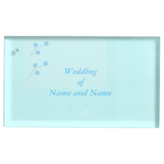 Turquoise Flower wedding table place holder Place Card Holder