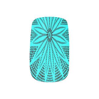 Turquoise Flower Wycinanki Minx Nails Minx® Nail Art