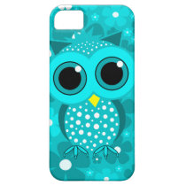 turquoise flowers and cute owl iPhone SE/5/5s case