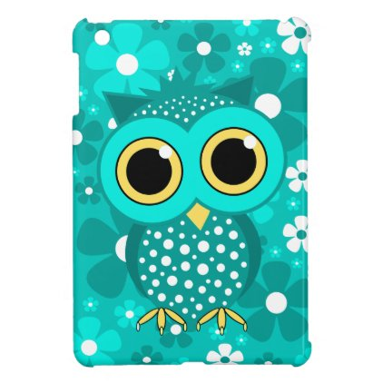 turquoise flowers and owl iPad mini covers