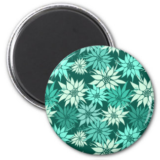 Turquoise Flowers Magnet
